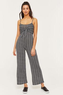 d40f57943541 Super Soft Tie Front Striped Jumpsuit.  39.90  27.93. 30% OFF. Ardene  Women s ...