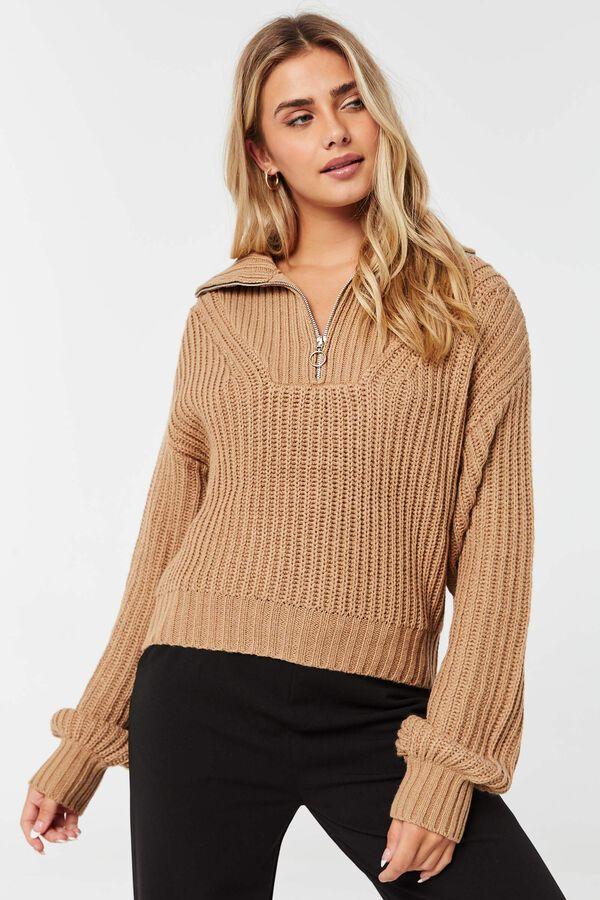 Short Half-Zip Sweater