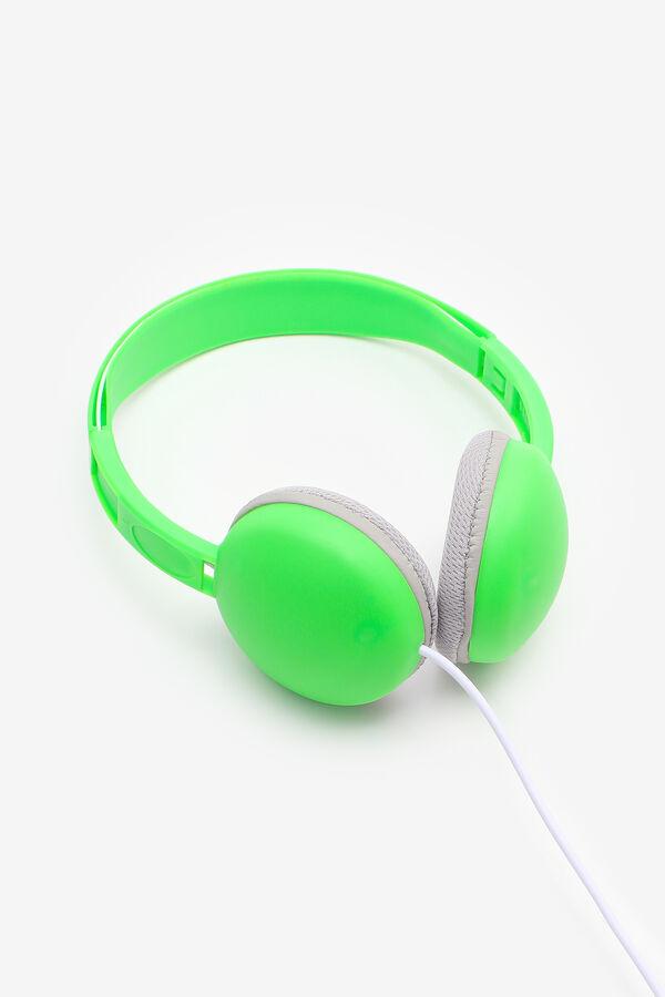 Casque d'écoute fluo