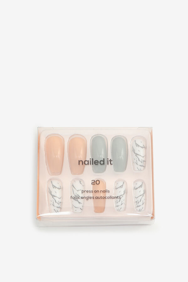 Pack of Marble Fake Nails