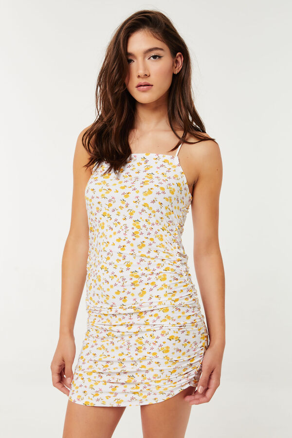 Square-Neck Dress with Crossed Back