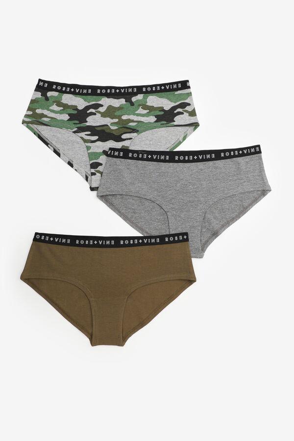 Organic Cotton Camo Hipster Panties