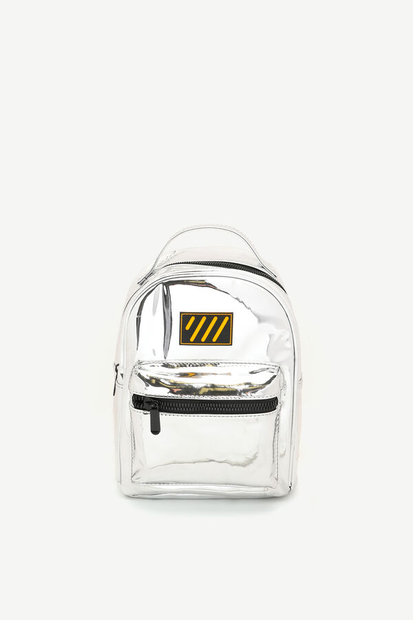 Patent Faux Leather Backpack