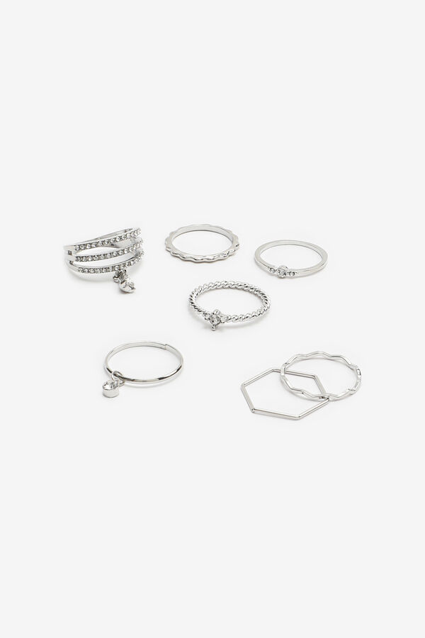 Assorted Rings with Dangling Stones