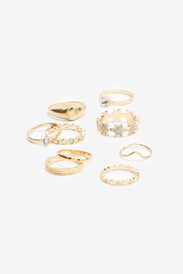 Pack of Assorted Gold Tone Rings