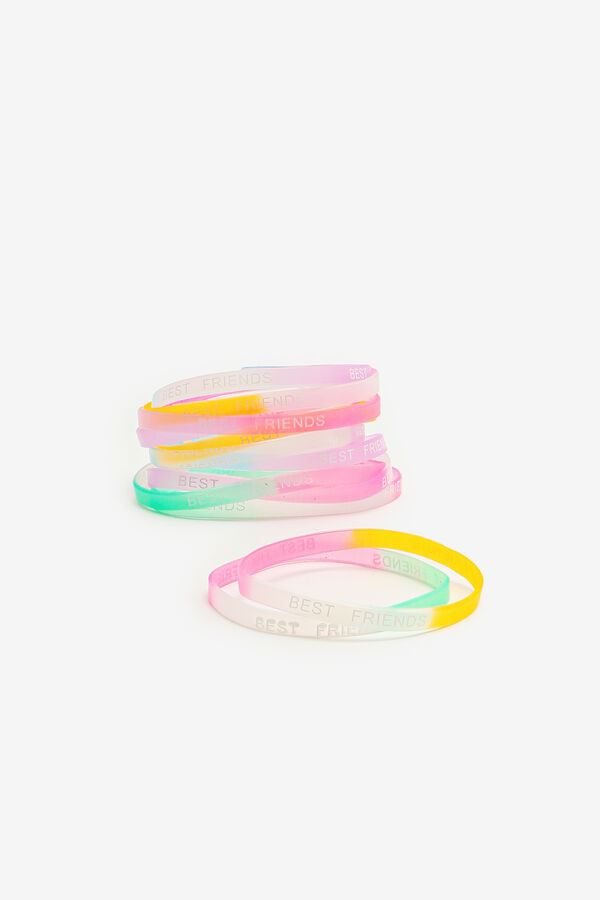 12-Pack Colorful BFF Bracelets for Girls