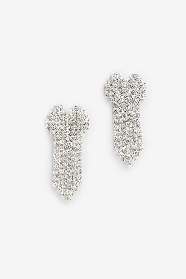 Boucles d'oreilles à cœur en cristaux