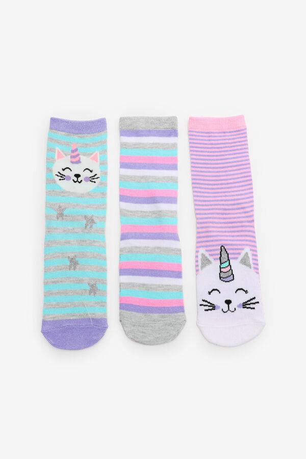 Unicorn Cat Crew Socks for Girls
