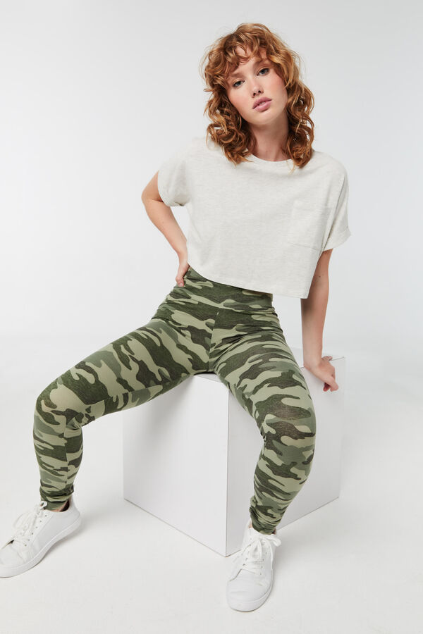 Camo Wide-Waistband Leggings