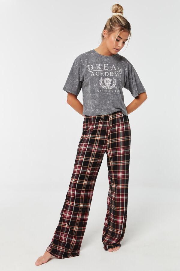 Plaid Lounge Flared PJ Pants