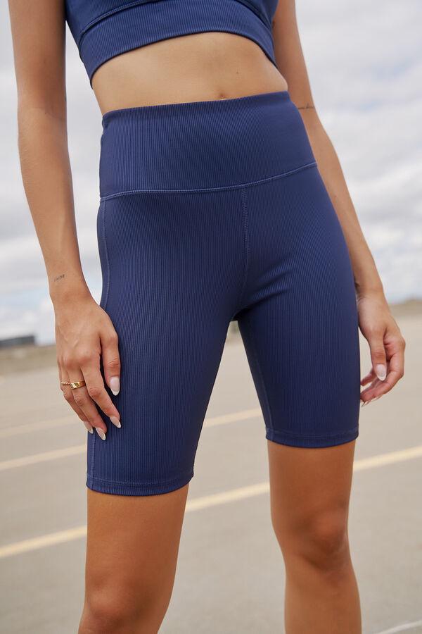 MOVE Ribbed Biker Shorts with Pocket