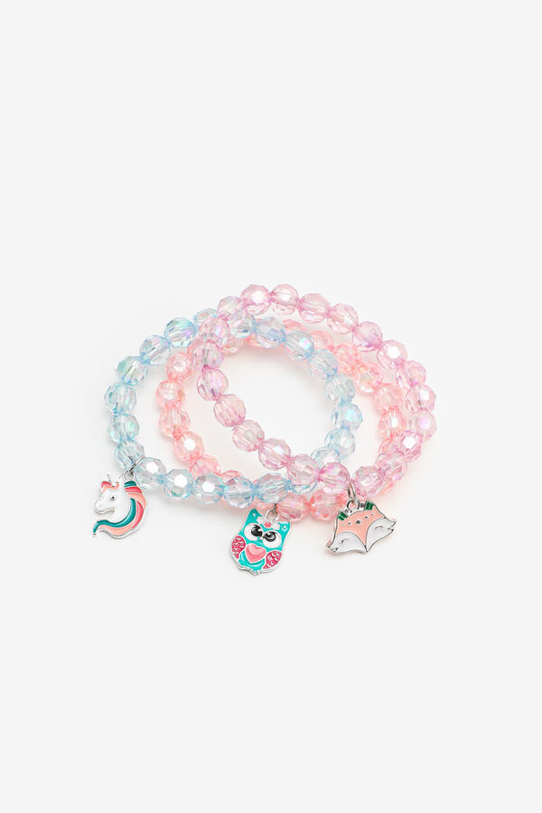 3-Pack Bracelets with Charms for Girls