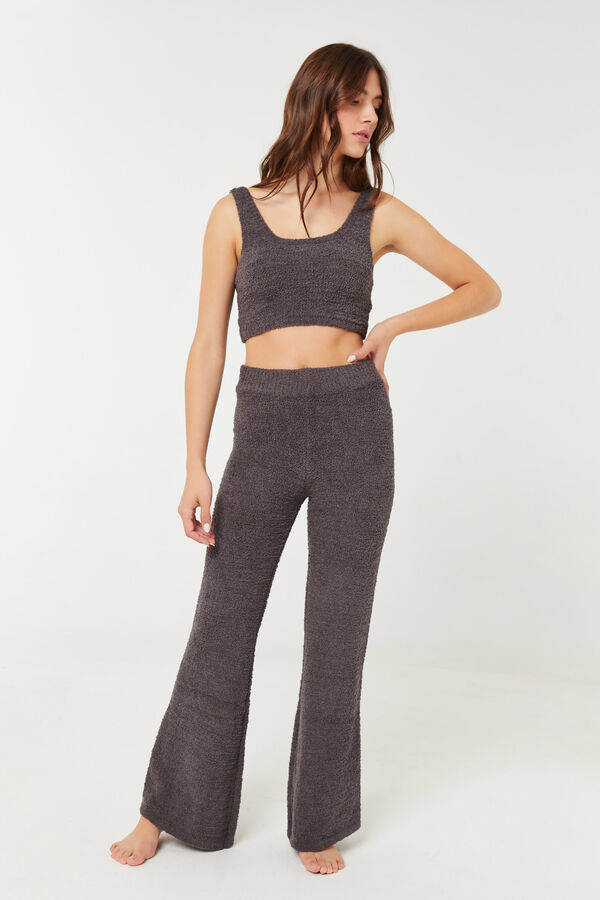 Chenille Lounge Flare Pants