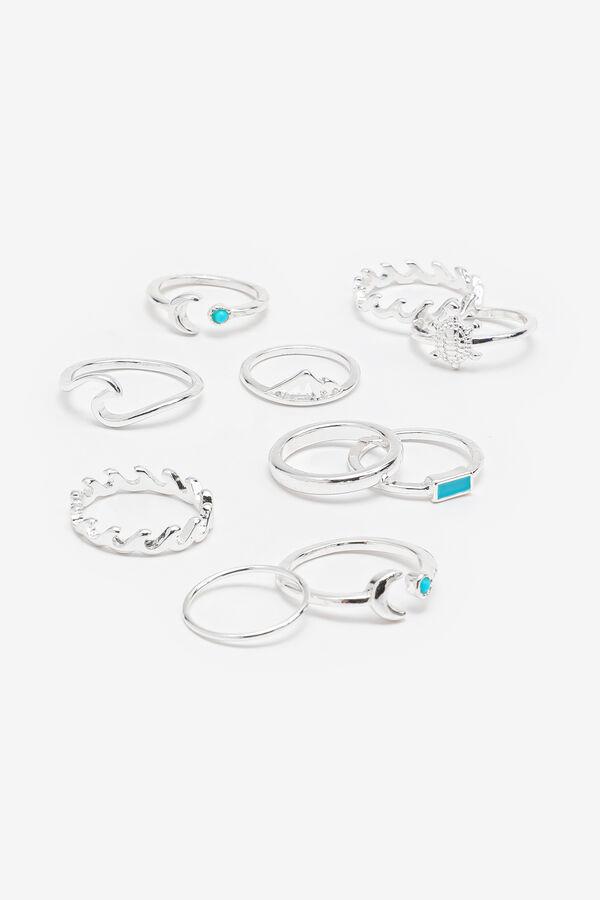 10-Pack Wave-Like Rings