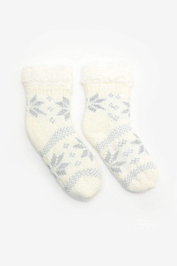 Snowflake Slipper Socks