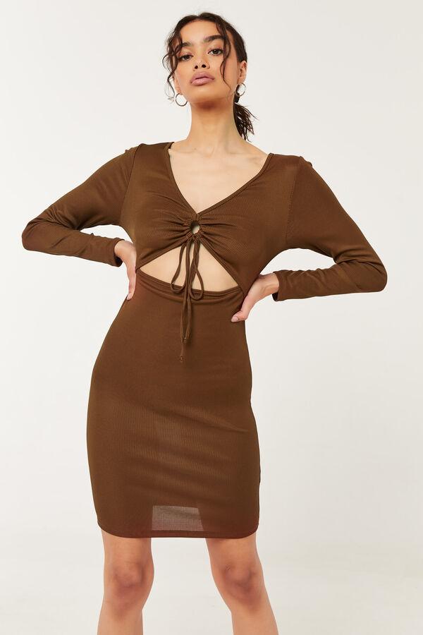 O-Ring Cutout Bodycon Dress