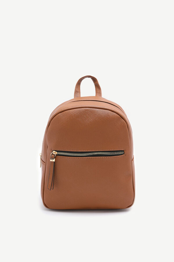 Basic Faux Leather Backpack