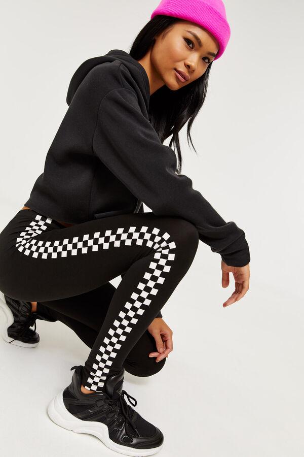 704d1779cc17f Ardene Ardene Women's Checkerboard Side Stripe Leggings, black, fall winter  2019 CLOTHING, ...