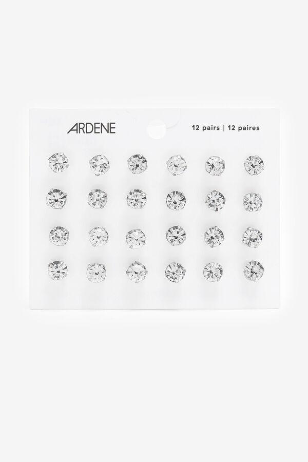 12-Pack Gemstone Stud Earrings