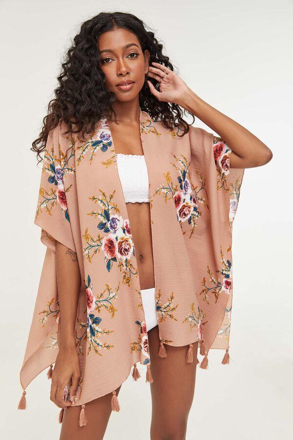 Floral Crepe Kimono