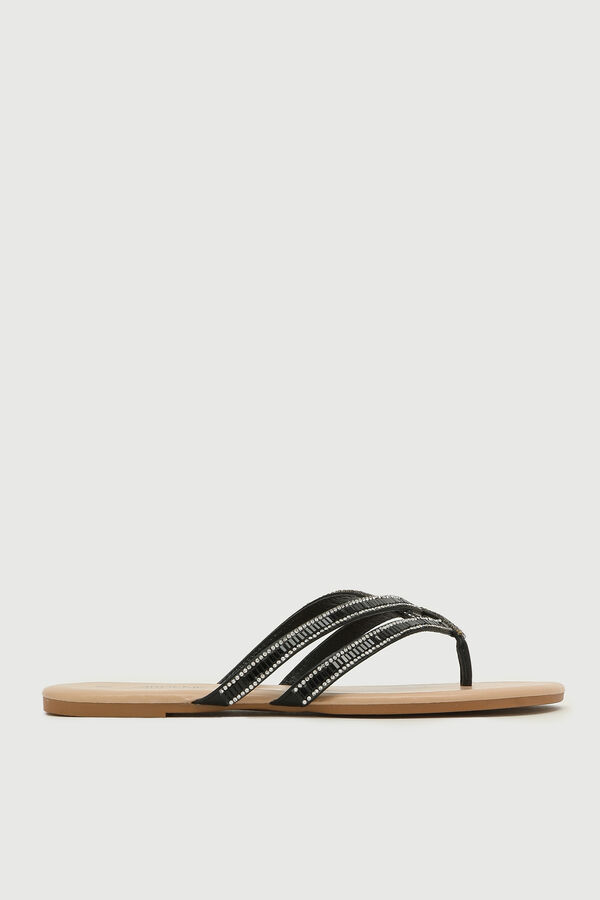 Multi Gemstone Strap Flip-Flops