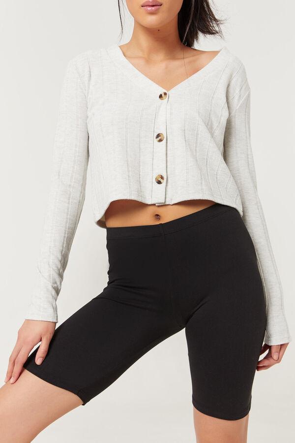 Cropped Ribbed Cardigan - Clothing | Ardene