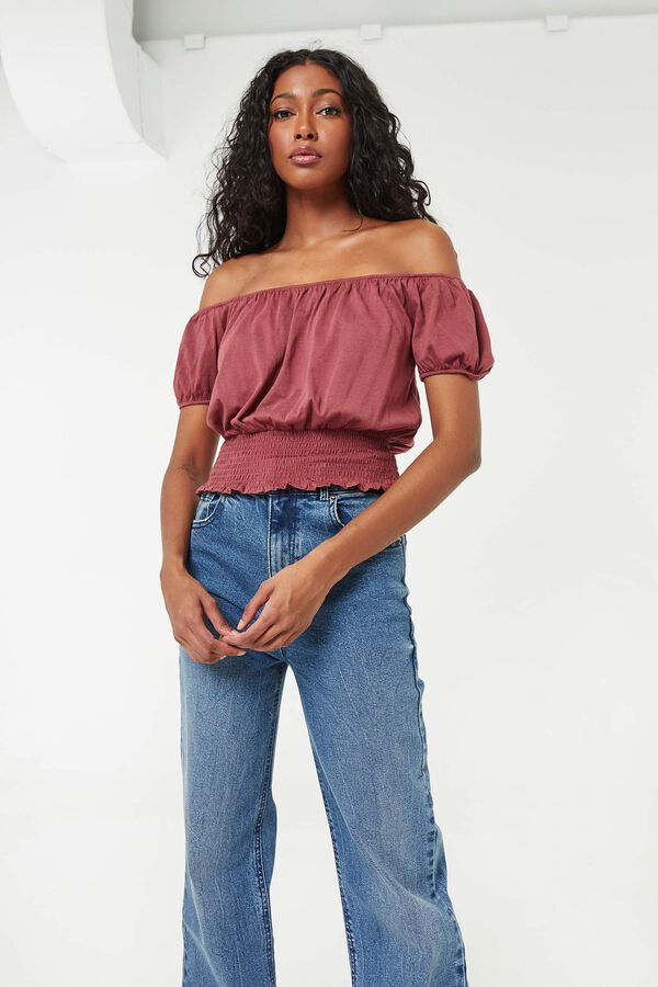 Peasant Top with Smocked Waist