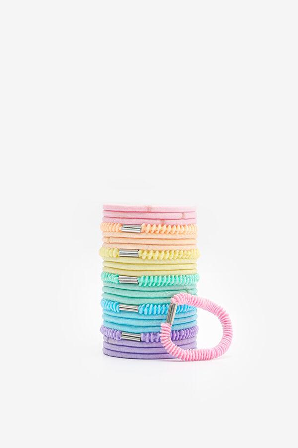 Paquet d'élastiques à cheveux pastel