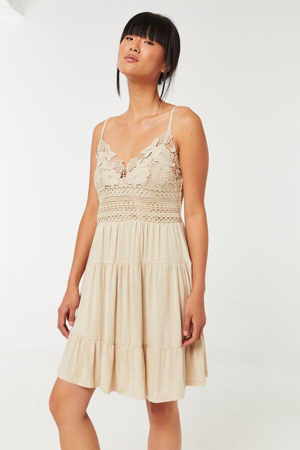 Crochet Top Mini Dress
