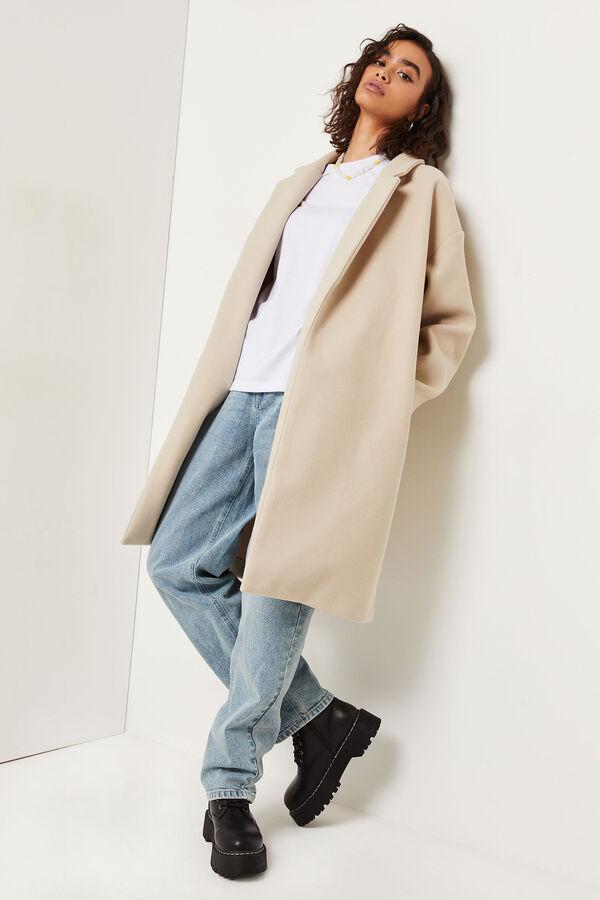 Manteau ample à épaules tombantes