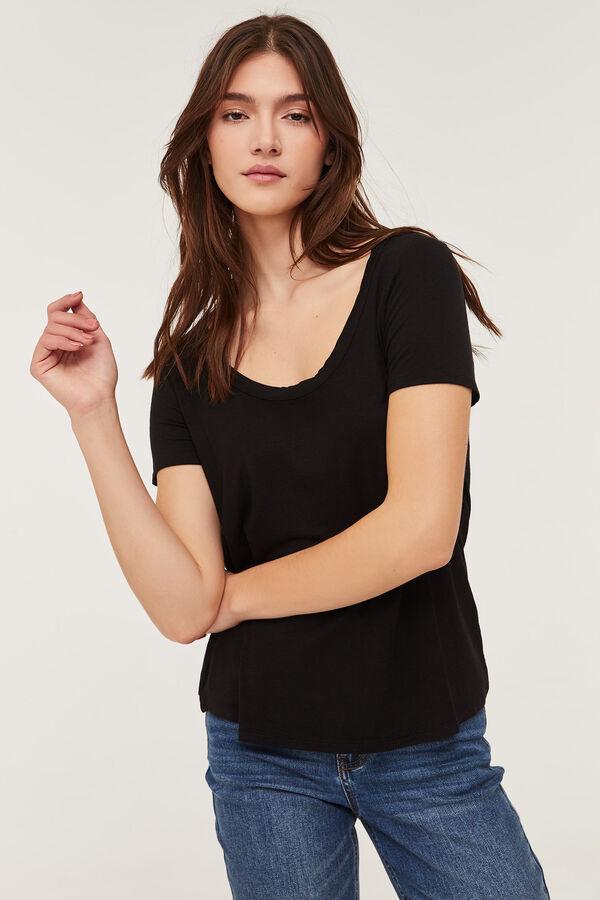 Crossed Strap Back T-shirt