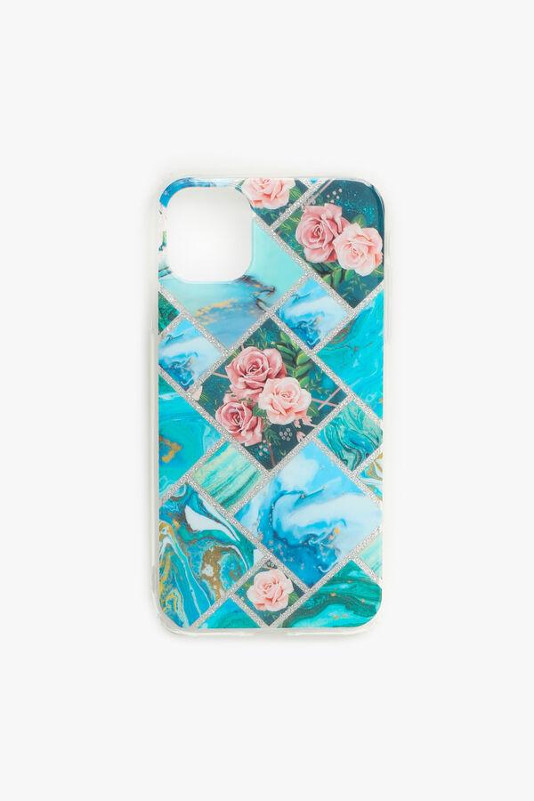 Étui d'iPhone 11 géo à fleurs