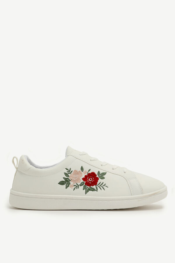 Embroidered Floral Sneakers
