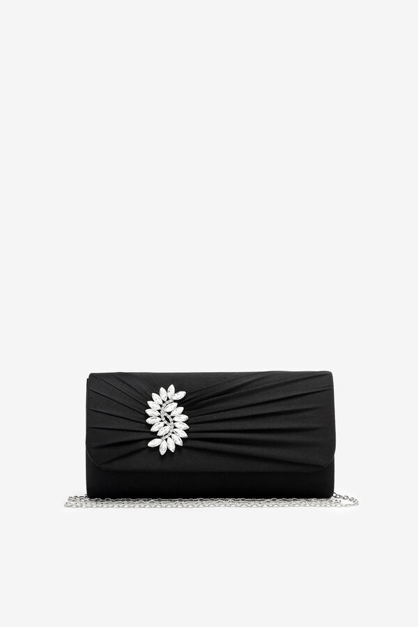 Occasion Pleated Satin Clutch