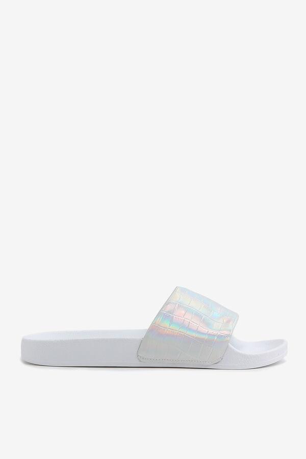 Embossed Slide Sandals