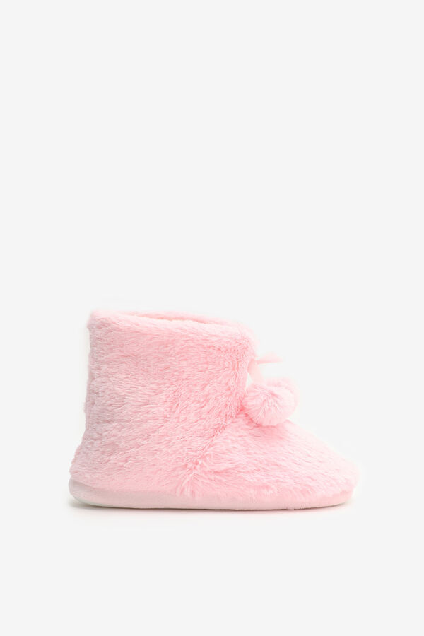 Faux Fur Boot Slippers for Girls