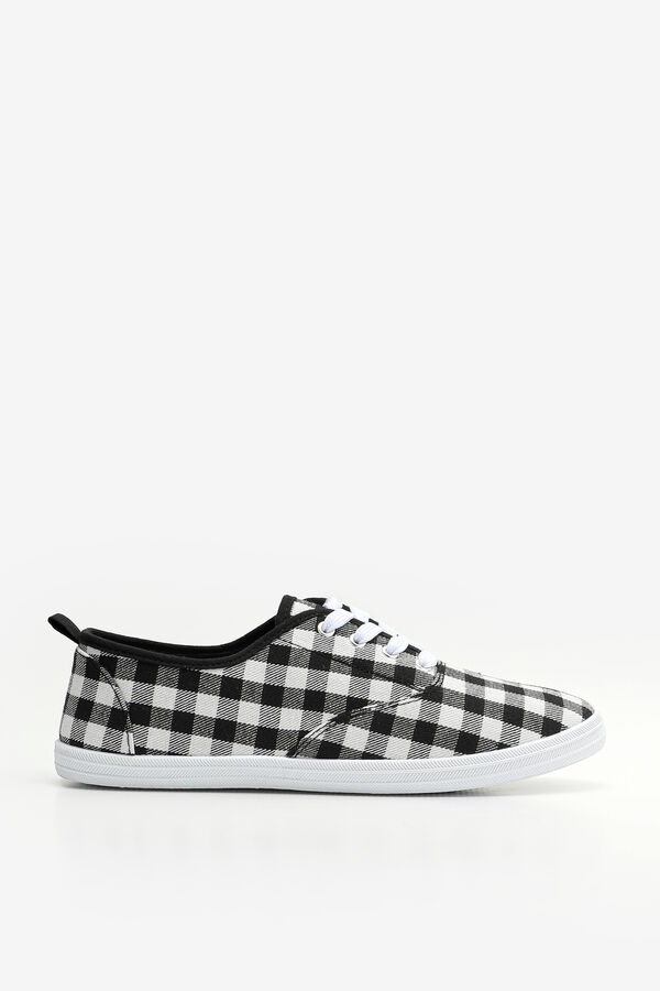 Plaid Laced Canvas Sneakers