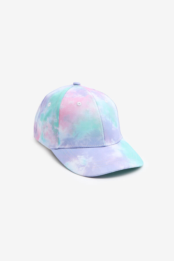Tie-Dye Baseball Cap with Initial for Girls