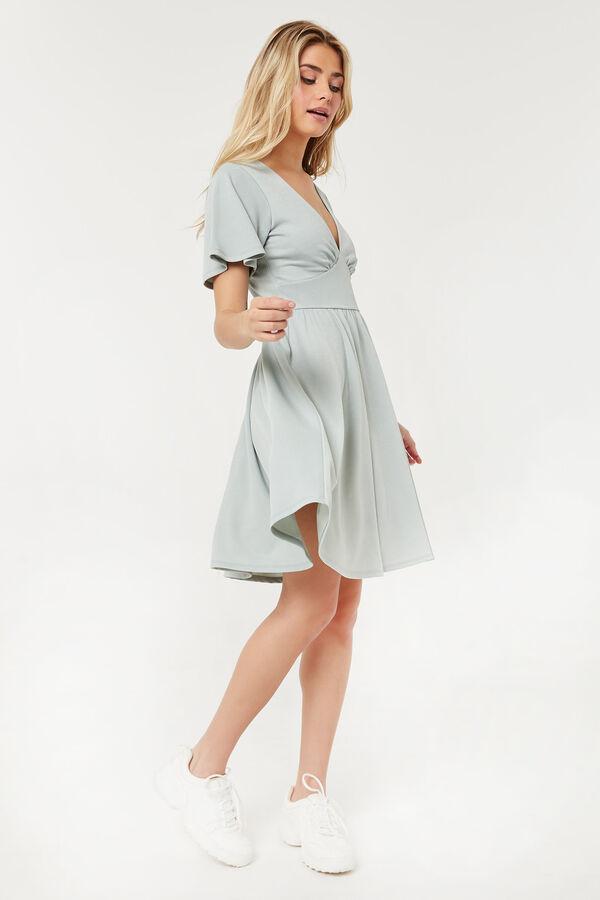 Mini robe en V