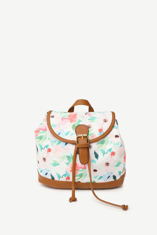 Petit sac à dos à cordon fleuri
