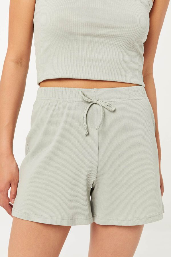Ribbed High Waist Shorts