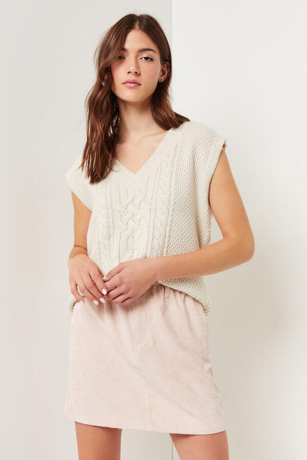Corduroy Mini Paperbag Skirt