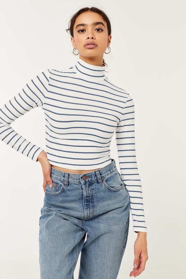 Ultra-Cropped Striped Sweater