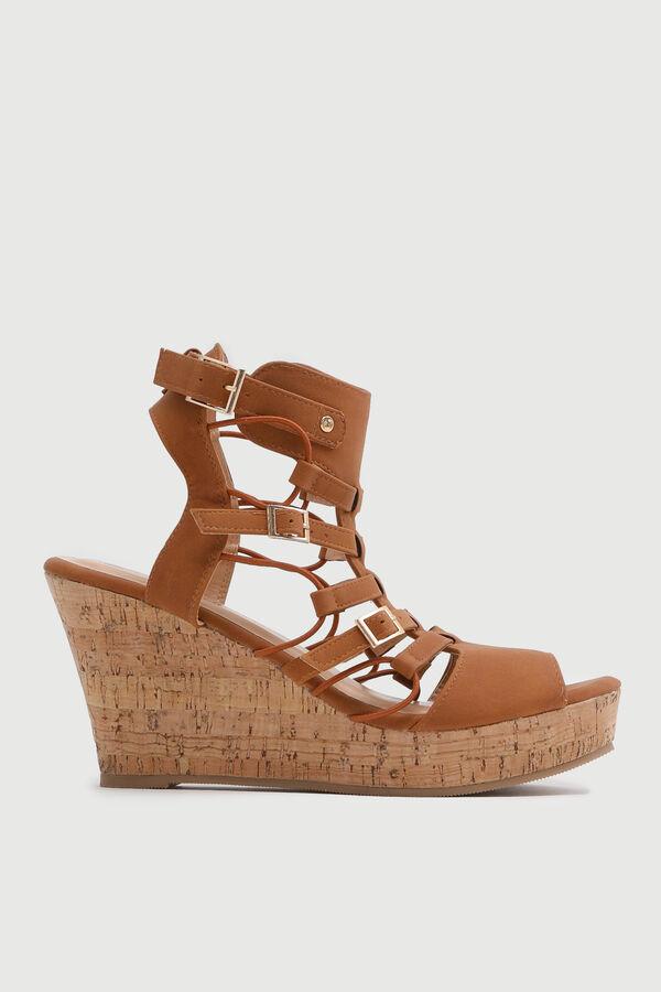 Cork Wedge Gladiator Sandals