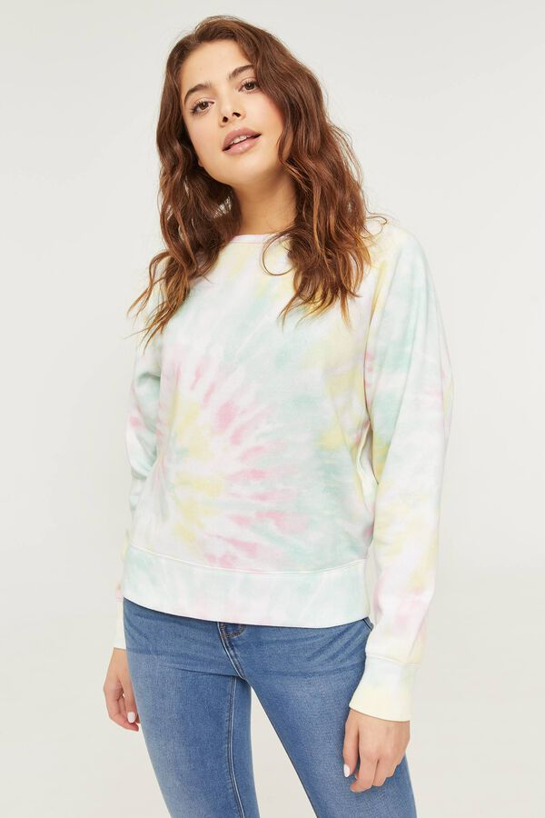 Eco-Conscious Recycled Fabric Tie-Dye Sweatshirt