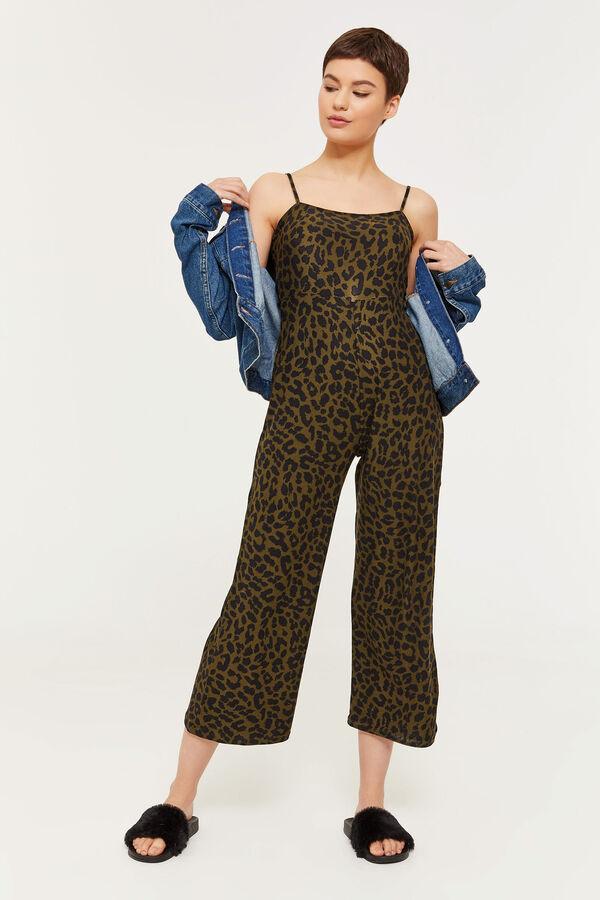 6ef1d9f2b15af Ardene Ardene Women s Basic Super Soft Animal Print Tank Jumpsuit
