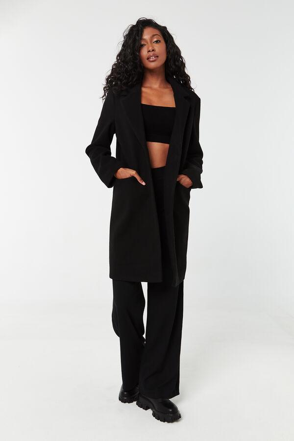 Single-Breasted Lapel Collar Coat