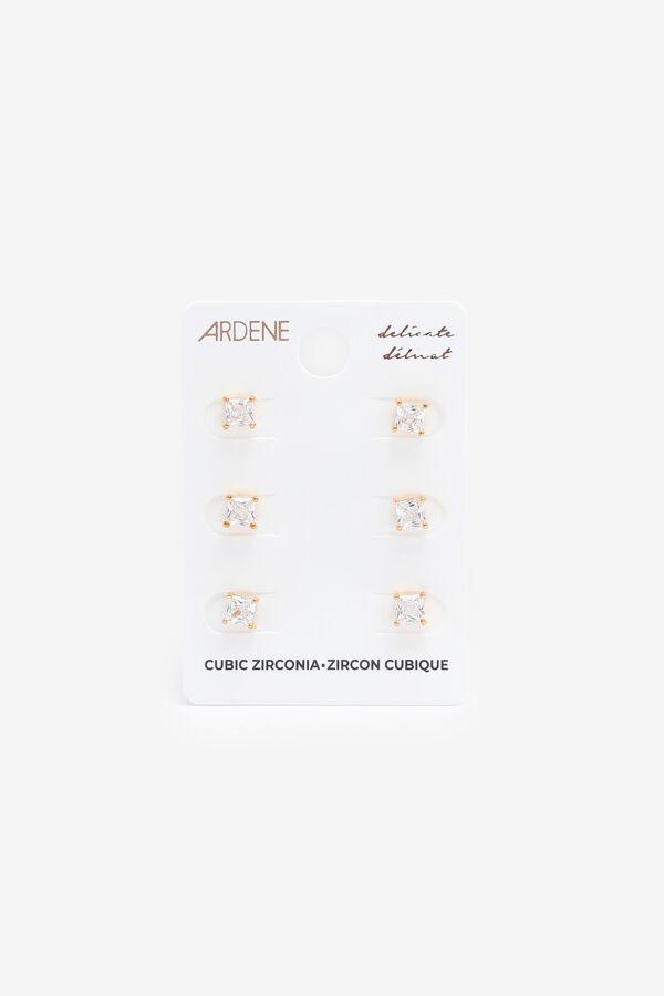 Clous d'oreilles carrés en zircon cubique