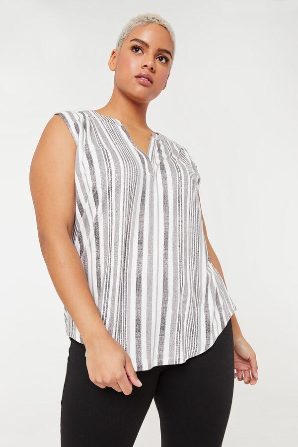 Plus Size Striped Tunic Tank Top