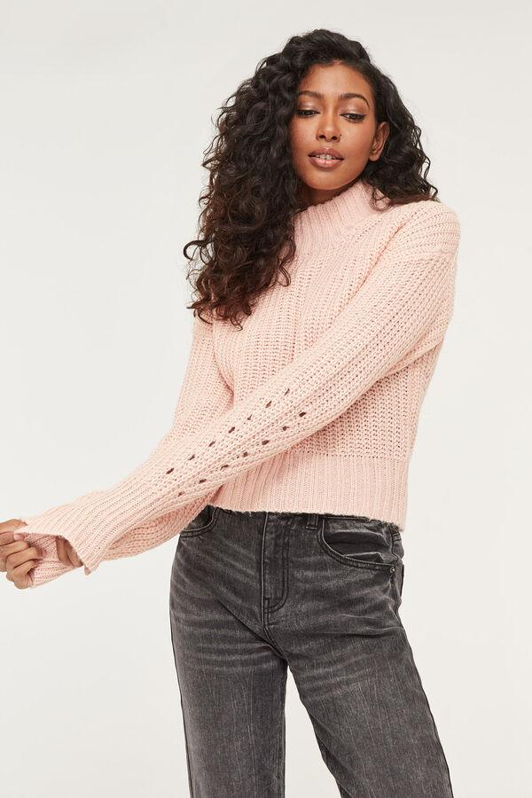Mock Neck Knit Sweater